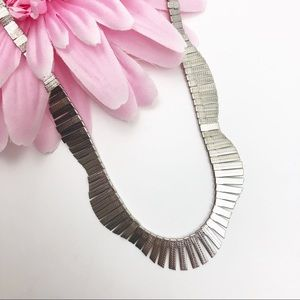 Spring Street Hammered Faux Silver Necklace